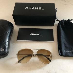 "CHANEL Pilot Sunglasses, ""Aviators"""